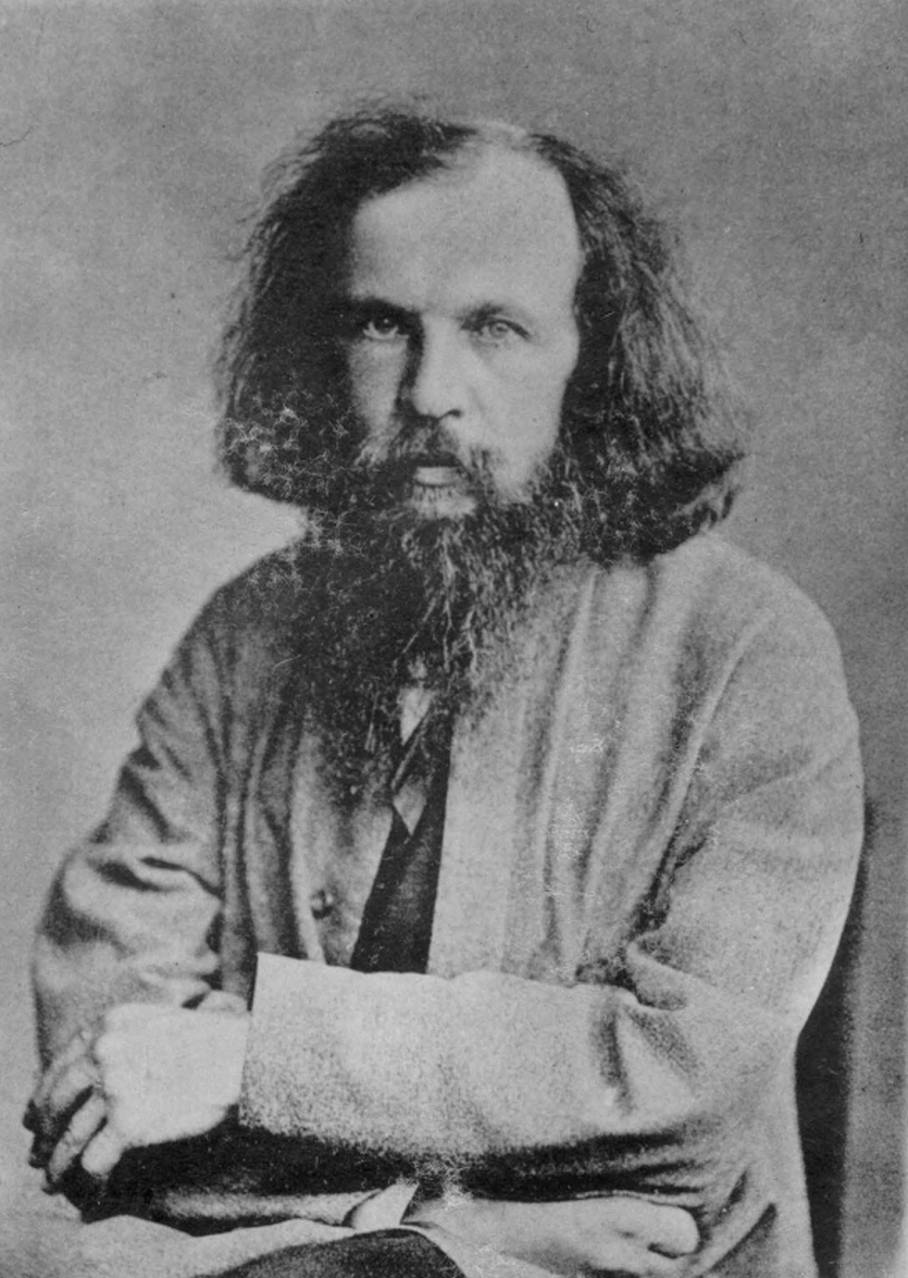 Dmitri Ivanovich Mendeleev as a young man. Courtesy Edgar Fahs Smith Collection, Kislak Center for Special Collections, Rare Books and Manuscripts, University of Pennsylvania.