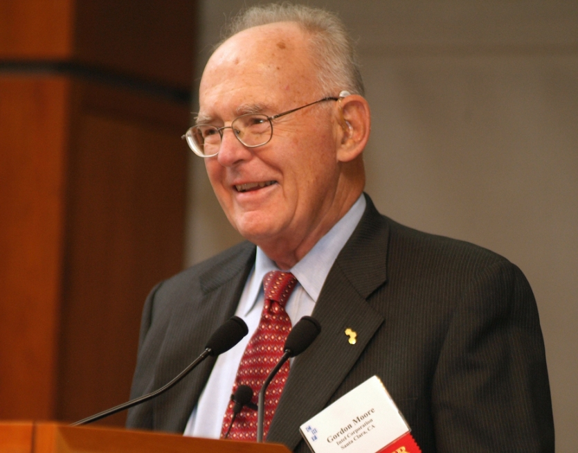 Gordon Moore at The Institute in 2005. The Institute Collections.
