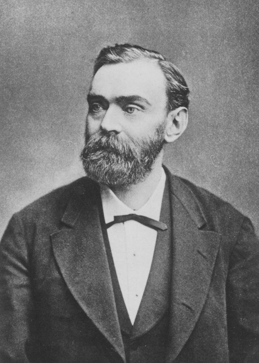 Alfred Nobel. Courtesy Edgar Fahs Smith Collection, Kislak Center for Special Collections, Rare Books and Manuscripts, University of Pennsylvania.
