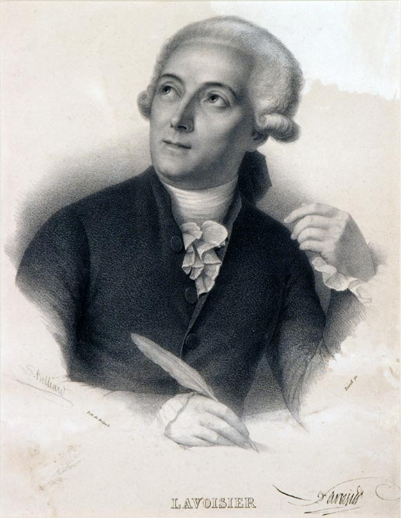 •	Lavoisier. Engraved by François Séraphin Delpech, after a drawing by Belliart, after the painting by Jacques Louis David.