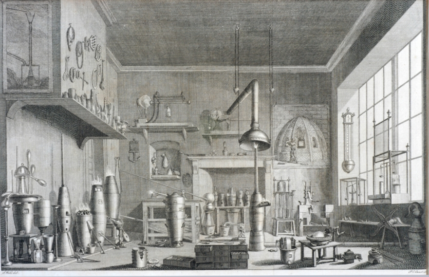 William Lewis's laboratory in Kingston, London