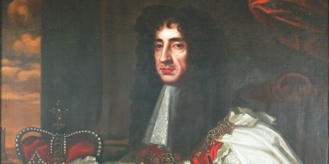 King Charles II, founder of the Royal Society. Sir Peter Lely also painted Charles's father, Charles I, and the man who replaced him, Oliver Cromwell. (CHF Collections/Gregory Tobias)