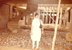 Mazumdar-Shaw at the Biocon construction site.