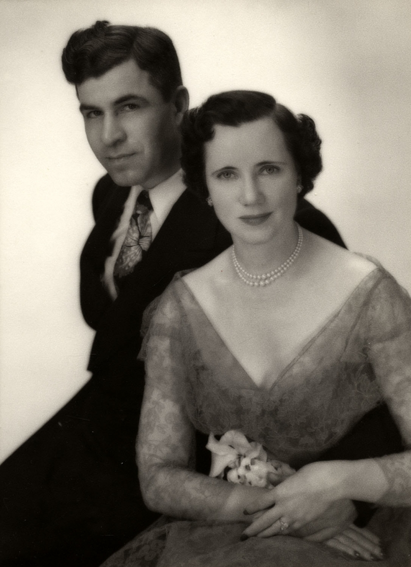 Donald Frederick Othmer and Mildred Topp Othmer, wedding photograph, November 1950.