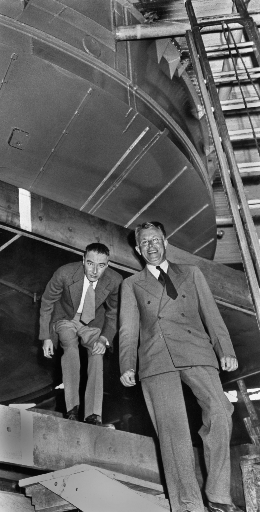 Oppenheimer and Lawrence, 1946