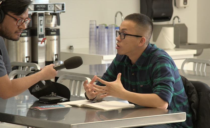 Student interviewed for Distillations podcast