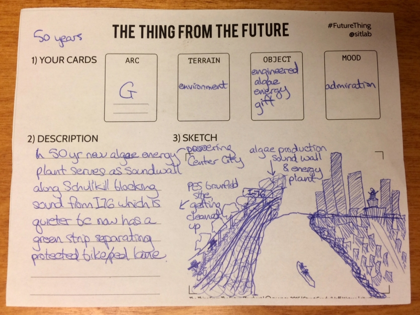 "The game ""The Thing From the Future"" encourages participants to imagine what the future might hold in light of different kinds of social, political, and technological change."