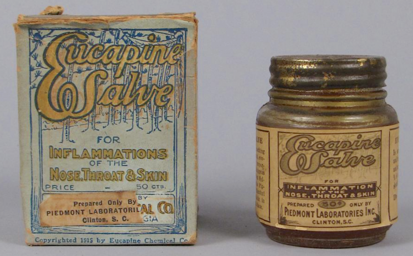 Box and bottle of patent medicine