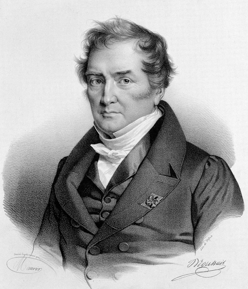 black and white engraving of a man