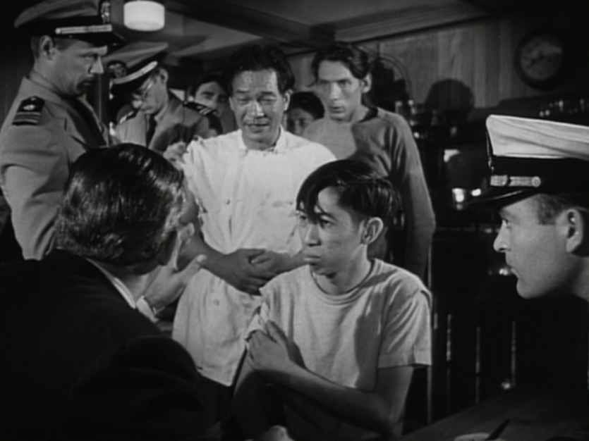Black and white movie still image