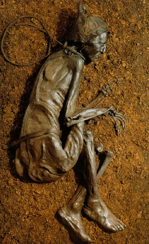 Tollund Man on display
