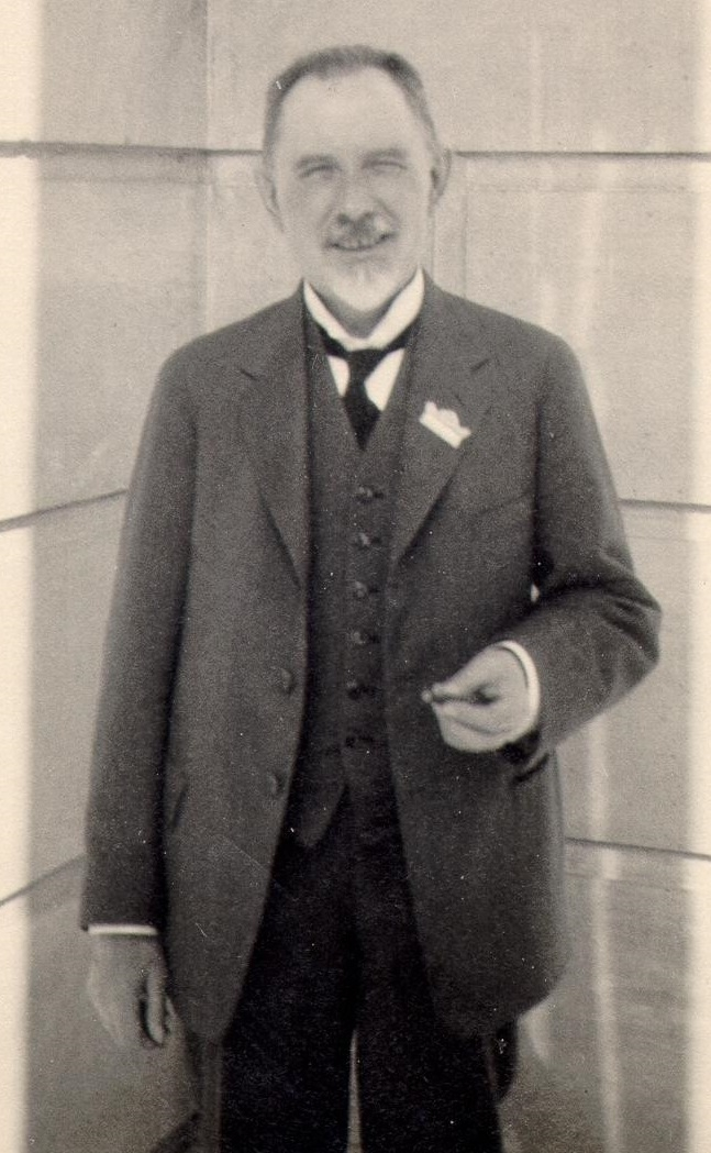 Søren Sørensen visiting Cornell University in 1924.