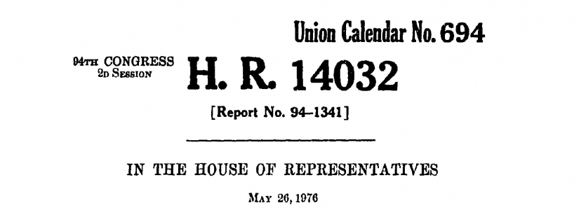 H. R. 14032, Toxic Substances Control Act, 1976
